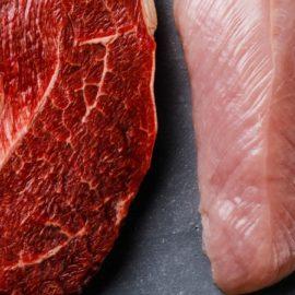 Viande rouge et viande blanche